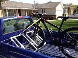 picture of truckbed pvc bike rack