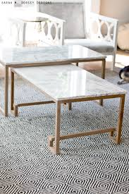 marble nesting tables for the living