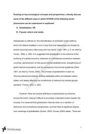 sclg introduction to sociology thinkswap sclg1001 globalisation essay