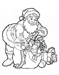 Small Picture Claus with gifts coloring pages for kids printable free