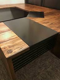 custom made office desks. Black Metal Brown Wood Custom Made Office Desk Desks