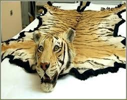 fake tiger skin rug designs