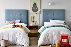 blue kids furniture. Heatherly Design Blue Bedhead With Coloured Tufting Stitches Beds For Kids Furniture
