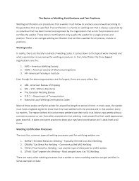 Resume Welder Resume
