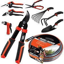 black and decker tools. black \u0026 decker garden full set up kit tools, 9-piece combo pack and tools