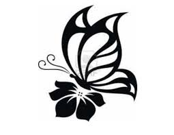 Flower And Butterfly Stencil Designs Butterfly Silhouette For Nursery Flower Silhouette