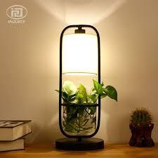 <b>Retro</b> Industry <b>LED</b> Glass <b>Wrought Iron</b> Desk Lamp Office Study ...