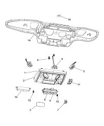 2008 chrysler town country overhead console diagram i2227434