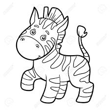 coloring book for children zebra stock vector 52986127