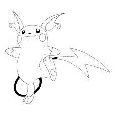 Disegno Di Pokemon Raichu Da Colorare Per Bambini