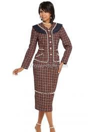 Donna Vinci Size Chart 2 Pc Jacket Skirt Set 5601