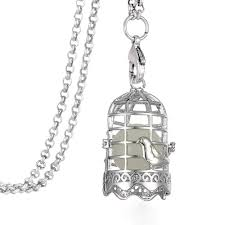 whole vintage silver essential oils diffuser ball birdcage bird cage locket pendant necklace nature jewelry glow in the dark erfly pendant necklace