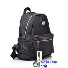 Black Coach Logo Monogram Medium Backpacks