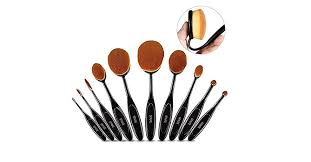 makeup brush set 10 pieces spaire professional oval makeup brushes is for 20 99 at amazon