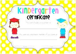 Graduation Certificates Example Free Printable Kindergarten Diploma