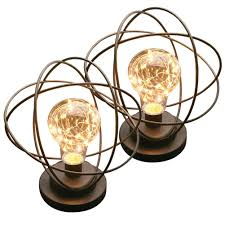 Atomic Age Accent Light Atomic Age Wireless Led Metal Accent Lamp Set Of 2