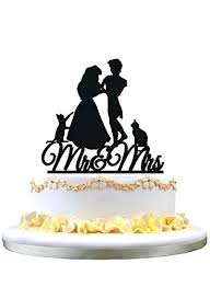 Cute Wedding Cake Toppers Funny Topper Silhouette 2 Cut Elephants S