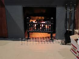creating faux embers fake fireplace effect indoors