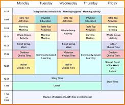 Blank School Schedule Template New Elementary Daily Free