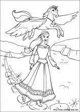 Small Picture Barbie and the Magic of Pegasus coloring pages on Coloring Bookinfo