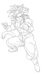 Small Picture 13 Pics Of Goku SSJ4 Coloring Pages How To Draw Goku SSJ4 Full