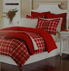 martha stewart collection full queen winter tartan red flannel comforter cover 636202784976