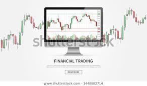 Desktop Forex Trade Chart Vector Illustration Stock Vector