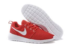 nike shoes red. 2017 hot sale nike roshe run womens sneakers red white shoes