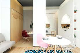 tiny dining room view in gallery apartment with movable walls and a tiny dining area small