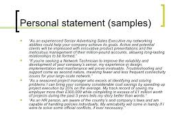 Examples Of Personal Statements For Cv Great Personal Statement For Cv Consideration