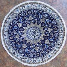 image of round oriental rugs blue