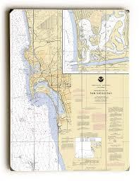 Ca Approaches To San Diego Bay La Jolla Coronada Ca Nautical Chart Sign