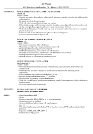 Sample Programmer Resume Developer Programmer Resume Samples Velvet Jobs 16