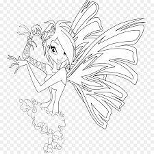 Winx Club Believix In You Flora Drawing Line Art Sirenix Pencil