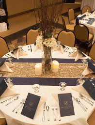 Blue And Gold Table Setting We Have A Special Fondness For Brittany Kyle They Brought Such