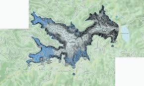 Lake Arrowhead Depth Chart Lake Arrowhead Reservoir Fishing Map