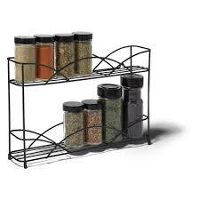 Tier Spice Rack Spectrum Diversified Countertop And Wall Mount 2 Tier Spice Rack
