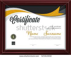 certificate templateletter size diploma vector illustration stock  certificate template letter size diploma vector illustration
