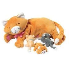 Manhattan Toy 107790 - Peluche, Mamma gatta con gattini <b>EURO</b> ...