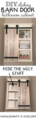 Barn Door Plans Diy Diy Sliding Barn Door Bathroom Cabinet Door Storage Open