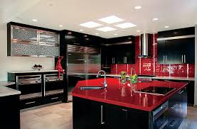 Red And Black Kitchen Designs Inspiring worthy Red And Black Kitchen Ideas  Visi Build Picture