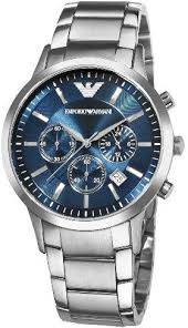 on emporio armani buy emporio armani online at best price in emporio armani sports men s blue dial stainless steel band watch ar2448