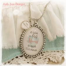 Kole Jax Designs Customer Service It Takes A Big Heart To Teach Little Minds Personalized Necklace For Teachers