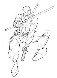 Small Picture Deadpool Coloring Pages Printable Deadpool Coloring Pages 18130