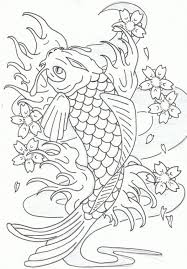 Small Picture Koi Fish Coloring Pages intended to Inspire in coloring image
