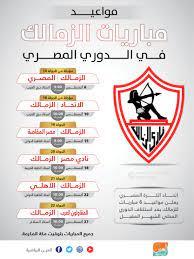مباريات الزمالك في الدوري المصري القادمه