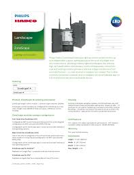 Hadco Lighting Products Landscape Manualzz Com