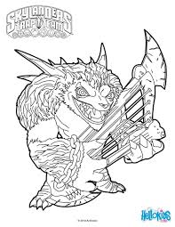 Wolfgang Coloring Page From Skylanders Trap
