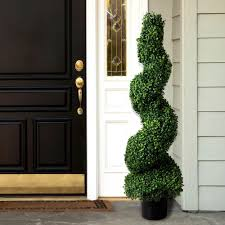 Artificial plants flowers home accents the home depot boxwood spiral topiary  tree bioresonanz kielfo Choice Image