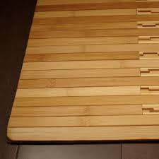 image of bamboo bath mat rug area